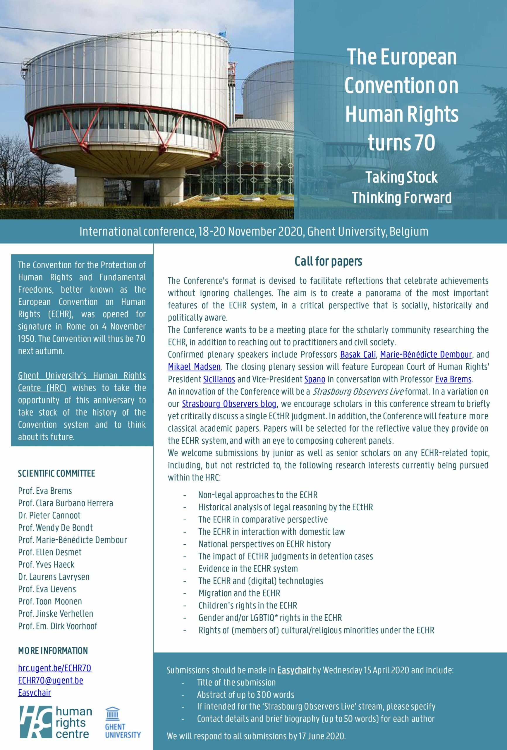 Call for papers update